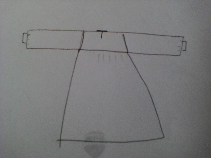 sketch of nightdress